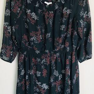 Maurice's Black Dress Flower Design XL Women's NWT